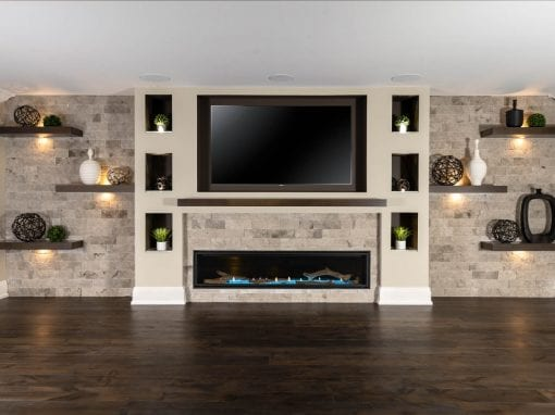 Hoover Basement Feature Wall