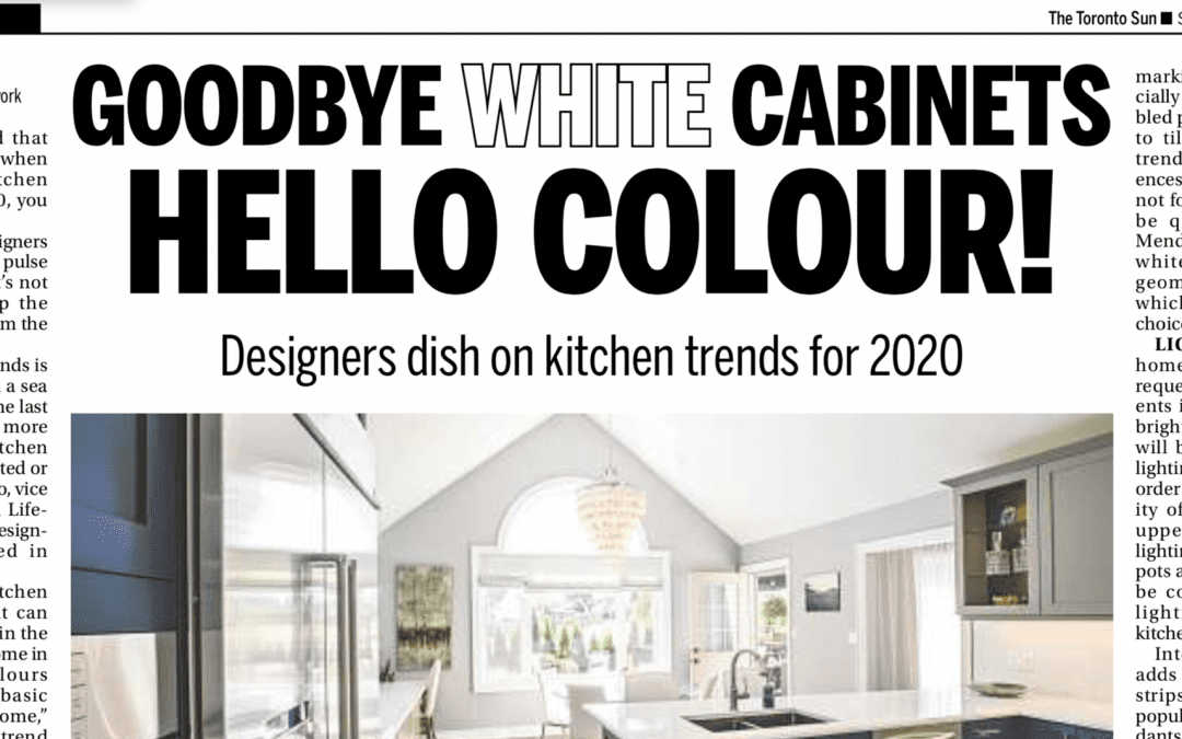 Toronto Sun Features Lifestyles By Barons – Kitchen Trends for 2020