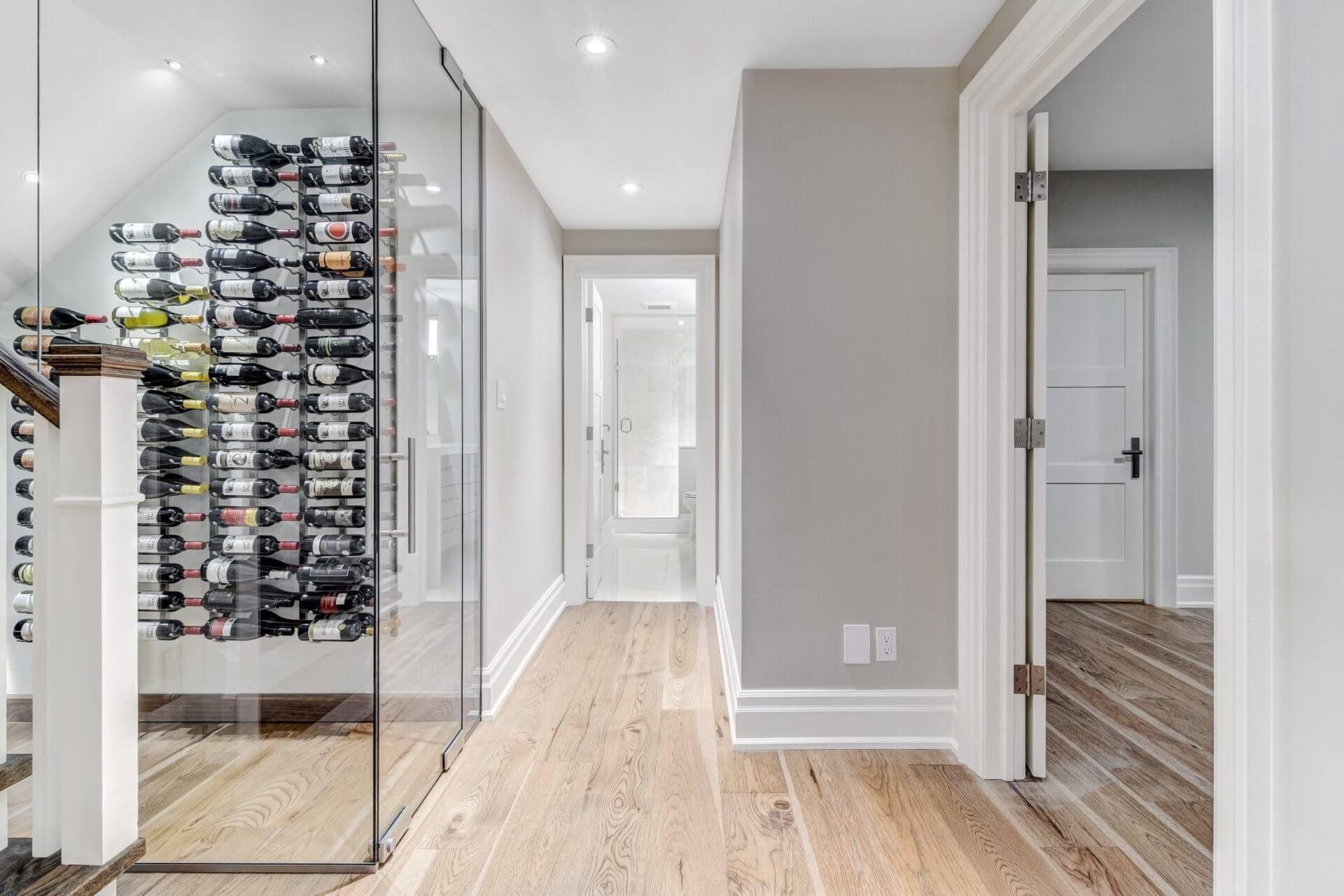 Hixon Wine Cellar Under Staircase