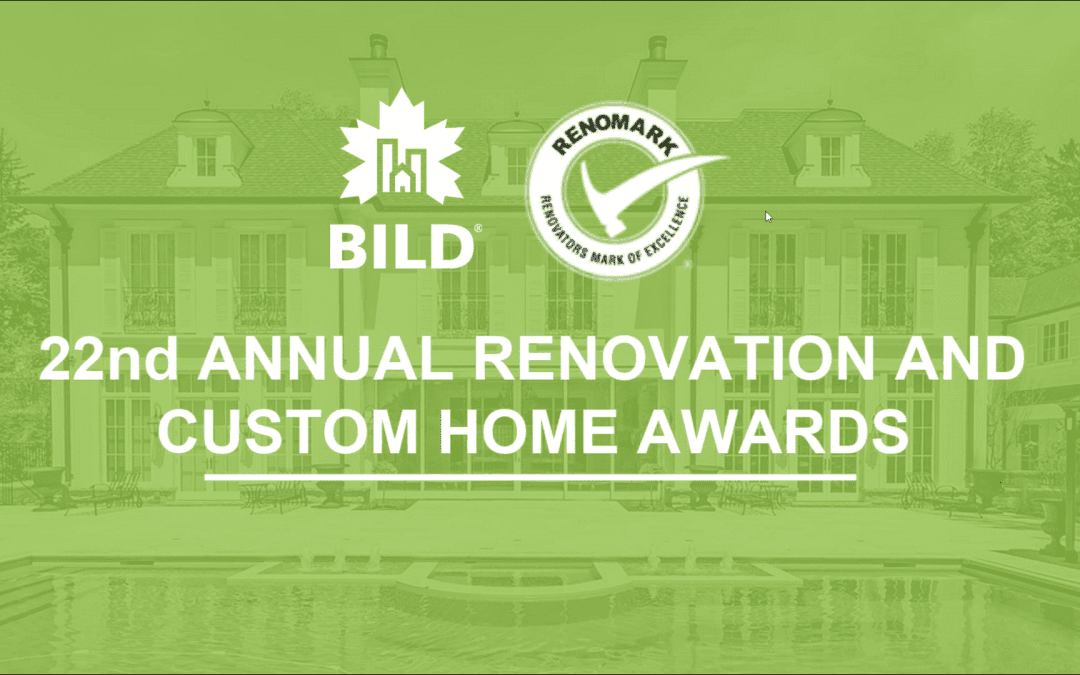 Finalist for 'Renovator of the Year' 2019 out of 1450 Companies in Ontario – BILD & Renomark Society!