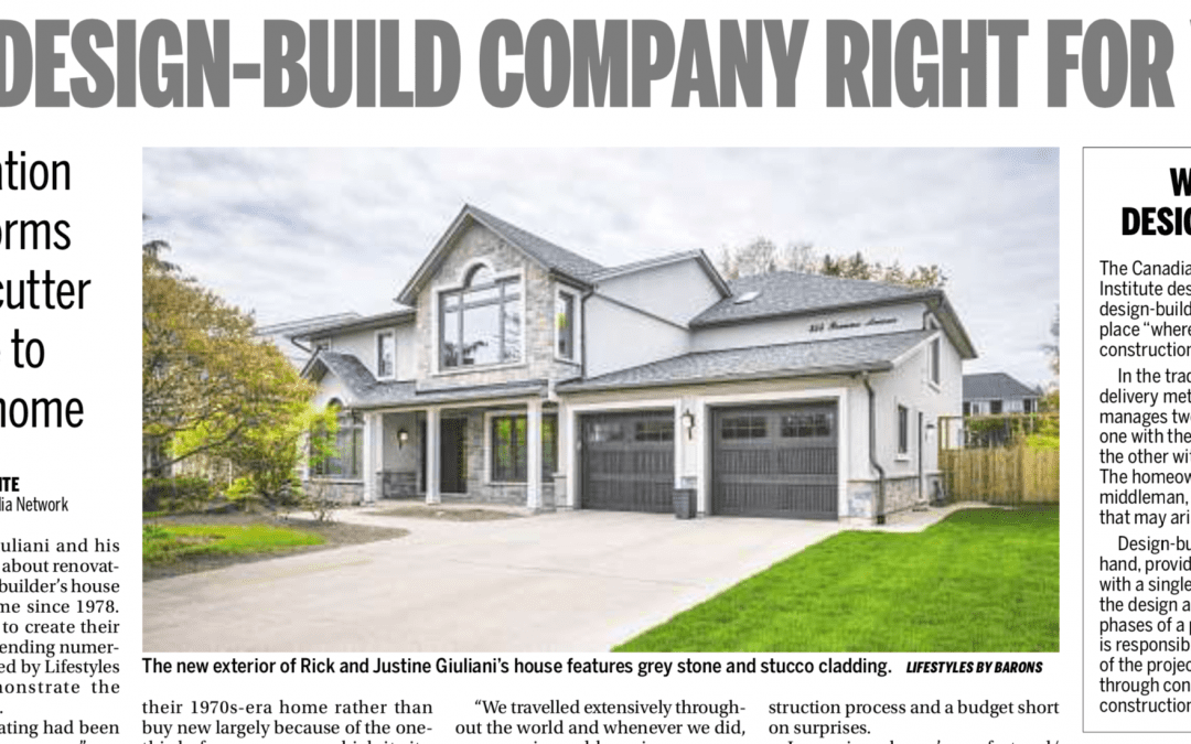 Toronto Sun – Is a Design and Build Company Right for You?