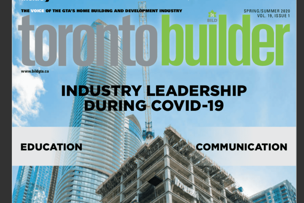 Toronto Builder Magazine Features Lifestyles By Barons – JULY 2020