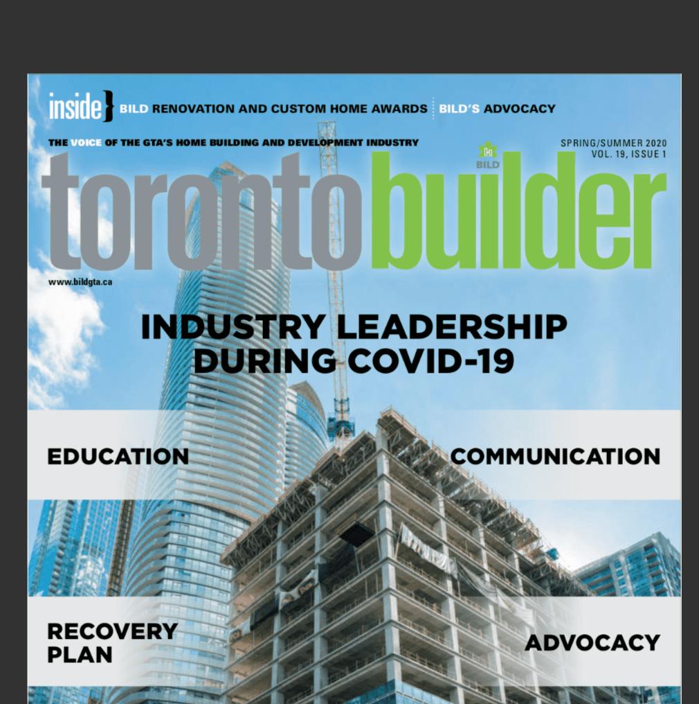 Toronto Builder Magazine Features Lifestyles By Barons July 2020 Lifestyles By Barons