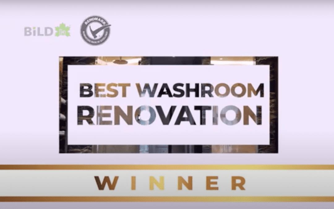 WINNER – Best Washroom Renovation, 23rd Annual Renovation and Custom Home Awards